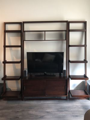 Crate and Barrel TV Media Stand and Bookshelves for Sale in Chicago, IL
