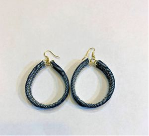 Round Denim Dangle Earring for Sale in Peoria, IL