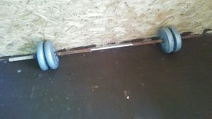 Weight bar with the weights for Sale in Gravois Mills, MO