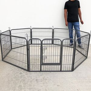 """New in box $70 Heavy Duty 24"""" Tall x 32"""" Wide x 8-Panel Pet Playpen Dog Crate Kennel Exercise Cage Fence Play Pen for Sale in El Monte, CA"""
