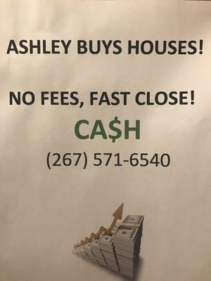 I'll buy your house! Cash! Any condition! for Sale in Philadelphia, PA
