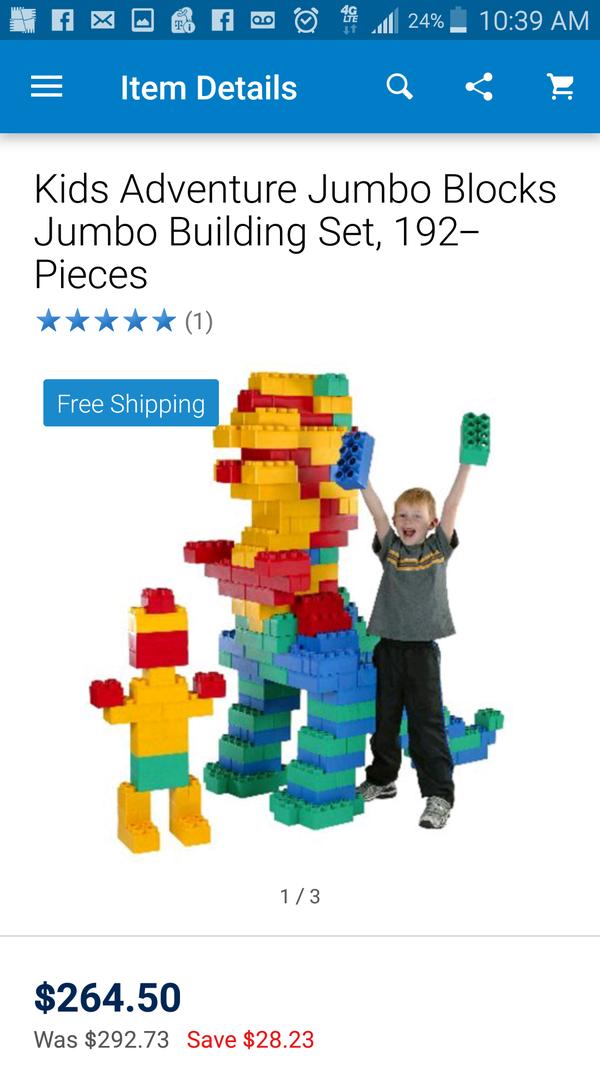 Brand new in box kids adventure jumbo blocks