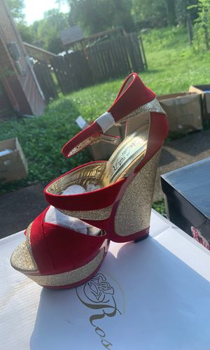 NEW RED/GOLD HEELS for Sale in Nashville, TN