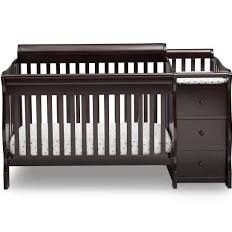 Cherry wood Delta Children Princeton crib 3-in-1-convertible crib and changer for Sale in Lancaster, CA