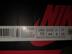 Nike Jordan Mid Size 10 new in the box never worn. Royal Toe Classic for Sale in Rialto, CA