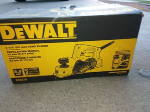 HAND PLANER DEWALT for Sale in Phoenix, AZ