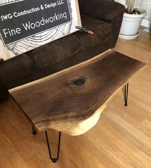 Live edge black walnut coffee table for Sale in Mukilteo, WA