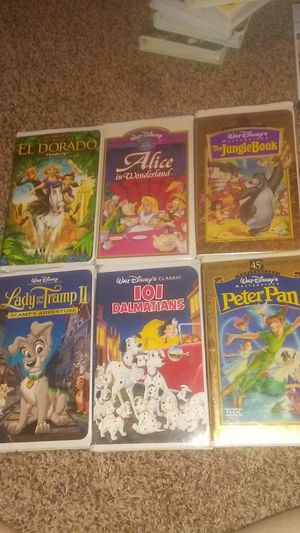 """""""Alice in Wonderland"""" """"The Jungle Book"""" """"Peter Pan"""" """"The Road to El Dorado"""" """"Lady and the Tramp 2"""" """"101 Dalmatians"""" for Sale in Ada, OK"""