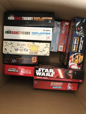 Lot of Board Games, Card Games, and Puzzles for Sale in Katy, TX