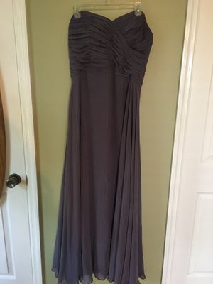 After Six Strapless Grey Bridesmaid Dress for Sale in Nashville, TN