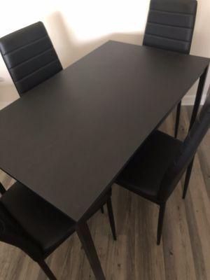 IKEA - Kitchen Dining Room Table + Four (4) Dining Chairs (Like New!) for Sale in Tampa, FL