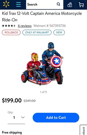 Captain America Motorcycle for Sale in Tampa, FL