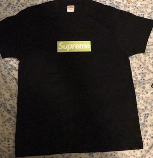 Supreme Lime Green On Black Box Logo T-Shirt for Sale in Lauderhill, FL