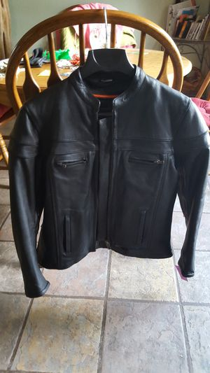 Unisex high quality leather motorcycle jacket for Sale in Glendale, AZ