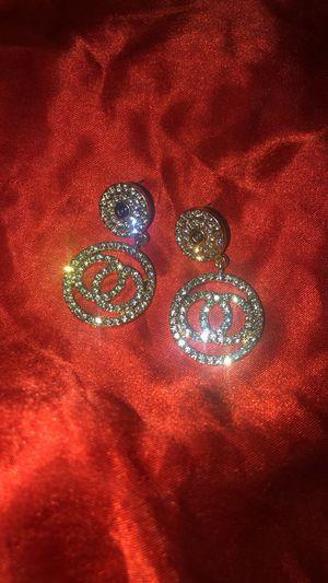 Diamond earrings/fantasy jewelry/earrings/aretes /diamantes/mink eyelashes/Dangle earrings/Halloween/ for Sale in Pomona, CA