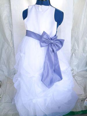 David's bridal baptism communion flower girl white dress for Sale in Covina, CA