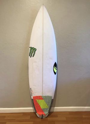"Surf board - Sharp Eye Holy Toledo 5'8"" autographed by Filipe Toledo for Sale in Santa Clara, CA"