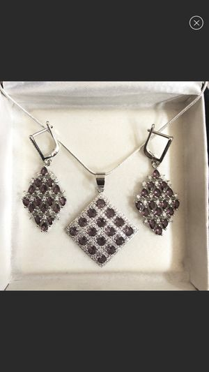 Amethyst Jewelry Set (925 silver) for Sale in Marlboro Township, NJ