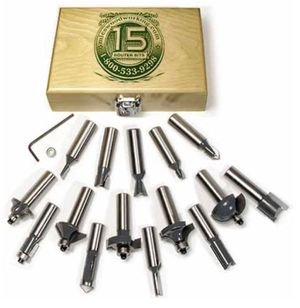 MLC's 15 piece router bit set for Sale in Havertown, PA