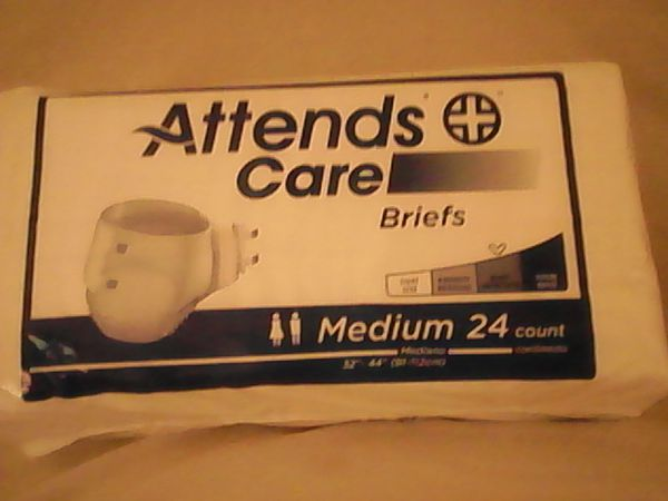 Incontinence briefs Size Medium 24 per package