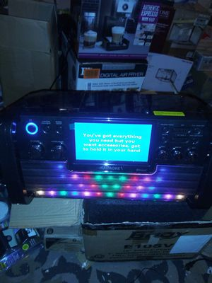 Karaoke machine with Bluetooth and cd for Sale in North Las Vegas, NV