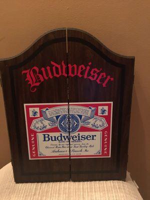 Budweiser Wooden Dart Cabinet for Sale in Holmdel, NJ