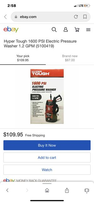 Hyper Tough 1600 PSI 1.2 GPM Electric Pressure Washer for Sale in Claymont, DE