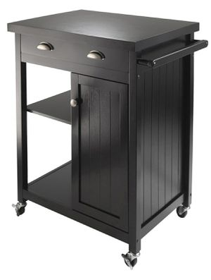 Winsome Wood Timber Utility Kitchen Cart, Black Finish for Sale in Houston, TX
