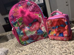 Trolls lunch bag and book bag for Sale in Burlington, NC