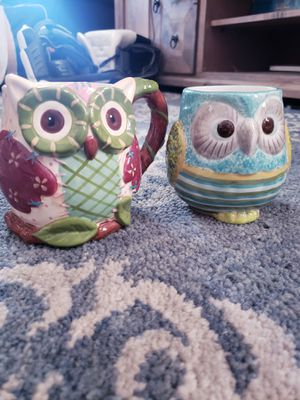 Two Owl Mugs for Sale in Mesa, AZ