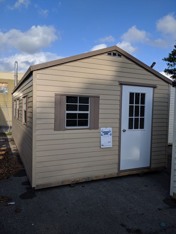 12x24 Aluminum Shed 20 Year Warranty Dade County Broward County Approved For Sale In Hialeah