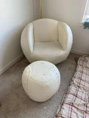 Baseball chair and Ottoman for Sale in Wheeling, IL