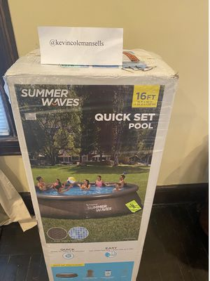 New Summer Waves 16ft x 42inch pool for Sale in Maplewood, NJ