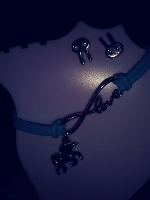 Blue cord bracelet with unicorn charm for Sale in Tampa, FL