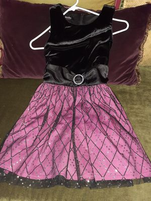 Pink and black girl dress. Size 6x for Sale in Jurupa Valley, CA