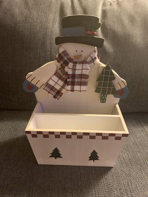 Snowman Napkin / Untensils Organizer Caddy for Sale in Bethesda, MD