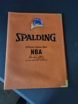 Warriors Basketball Folder  Notebook NBA Unique  for Sale in Vacaville, CA