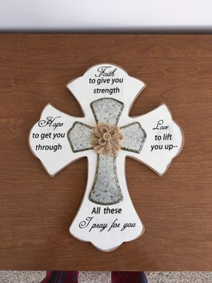 Home wall decor cross for Sale in New Albany, OH