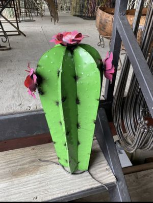 Cute Metal Cactus for Sale in Cedar Park, TX