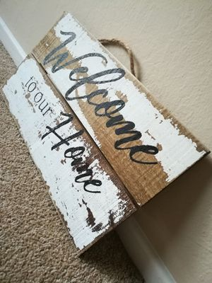 Welcome to Our Home Wooden Hanging Sign Home Decor Lot for Sale in Sunnyvale, CA