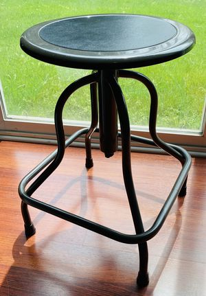 Rotating steel stool. Perfect for your garage, basement, work space, school, laundry room, kitchen, bedroom, desk, and more! for Sale in Hoffman Estates, IL