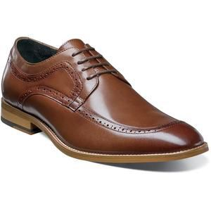 NEW STACY ADAMS Men's Dwight Moc Toe Leather Oxford, Cognac, 10.5M US for Sale in Miami, FL