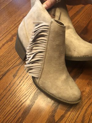 Tan Suede Fringe Bootie for Sale in Waldorf, MD