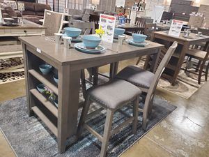 5 PC Counter Height Dining Set, Grey for Sale in Garden Grove, CA