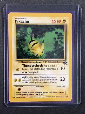 """Pikachu # 27 """"Bumblebee"""" Black Star PROMO Pokemon Card for Sale in Medford, MA"""