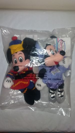 New in Bag with Tags Disney Nutcracker Mickey and Sugar Plum Minnie Beanie Babies for Sale in Downers Grove, IL