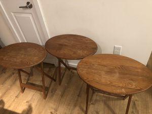 3 side coffee tables for Sale in Arlington, VA