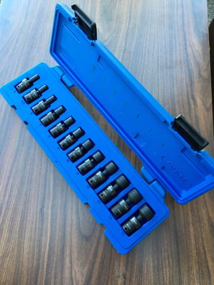 """Cornwell 1/4"""" Drive 12 Piece Metric Power Universal Socket Set 6point. (((($175 )))).❗️ Brand new ❗️ for Sale in Riverside, CA"""