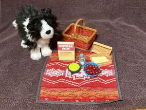 American Girl Doll Saige RETIRED picnic set and dog for Sale in St. Louis, MO