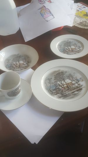 1981 Currier & Ives China Set for Sale in Smyrna, GA